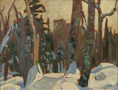 Canadian painter Lawren Harris - Winter Woods, Algonquin Park Canadian Painters, Canadian Artists, David Milne, Group Of Seven Paintings, Tom Thomson, Emily Carr, Algonquin Park, Painting Trees, Canadian History