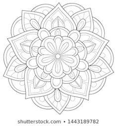 Cartera de fotos e imágenes de stock de Nonuzza | Shutterstock Black White Pattern, White Patterns, Black And White, Colouring Pages, Coloring Books, Mandela Art, Stationery Paper, Stencils, Adult Coloring