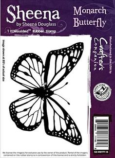 Sheena Douglass Cling Stamp Monarch Butterfly