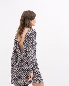 Printed playsuit from Zara. Zara Fashion, Fashion Outfits, Playsuit Dress, Zara Mode, Zara Dresses, Summer Wear, Jumpsuits For Women, Dream Dress, Style Guides