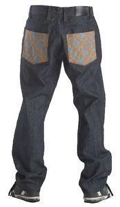 New Mens Nomis Simmer Denim Raw Blue Jeans 36