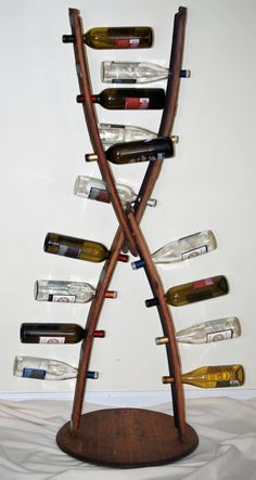 14 Bottle Arched Wine Rack by ThomasAClark on Etsy - re claimed wood