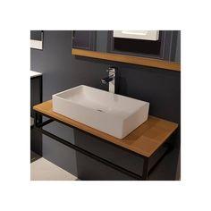 soporte lavabo negro metal toallero diseño Sink, Vanity, Bathroom, Home Decor, Industrial Bathroom, Industrial Style, Modern Bathrooms, Counter Tops, Wall Art