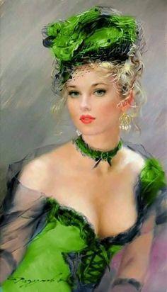 Woman Painting, Figure Painting, Art Amour, Painted Ladies, Victorian Women, Woman Drawing, Portrait Art, Erotic Art, Beautiful Paintings