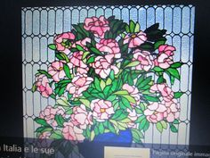 vetrata con rose roma