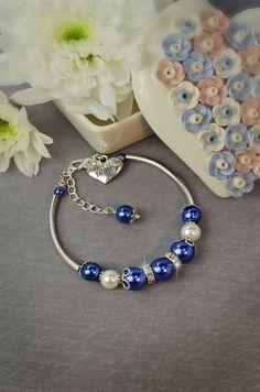 something blue jewelry set navy blue wedding jewelry by TopGracia