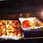 Maple Glazed Pork Loin & Garlic Potatoes