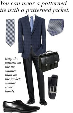 The Working Man: Pattern Mixing    What to Wear? Business Professional - Men