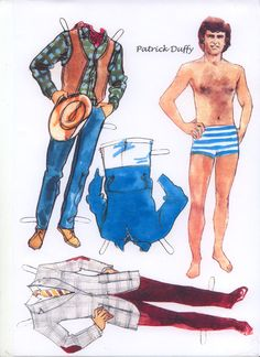 paper doll images   PATRICK DUFFY PAPER DOLL   Marges8's Blog