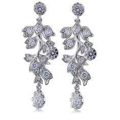 Diamonique by Tova tw Cascading Clip on Earrings Jewelry For Her, Timeless Elegance, Qvc, Clip On Earrings, Glamour, Elegant, Bracelets, Fashion, Dapper Gentleman