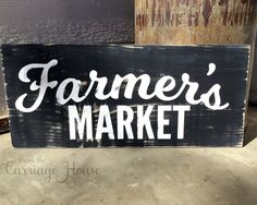 Farmers Market sign by From the Carriage House