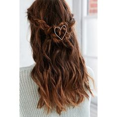 Love Hair Pin ($12) ❤ liked on Polyvore featuring accessories, hair accessories, hair and gold
