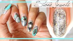 Stone Jewels Nail Art | Bejeweled Granite Textured Nail Art Tutorial - G...