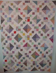 Jacob's ladder antique patchwork quilt