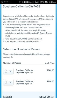 cool 2  ADULT 3DAY PARK HOPPER DISNEYLAND ANAHEIM 1DAY LEGOLAND 1DAY SEAWORLD   Check more at http://harmonisproduction.com/2-adult-3day-park-hopper-disneyland-anaheim-1day-legoland-1day-seaworld/