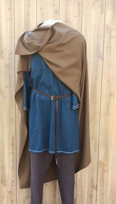 Viking Cloak Wool Cloak Dark Tan Square by ThePracticalViking $63.00
