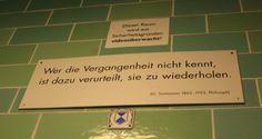 Zitat über dem Eingang zu den Unterwelten in Berlin Wedding Gesundbrunnen (c) Foto von Susanne Haun