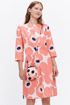 specializes in Finnish and Scandinavian design featuring Marimekko, iittala, Ilse Jacobsen, Ritva Falla & more. Marimekko Dress, Marimekko Fabric, Pop Art, African Inspired Clothing, Sew Your Own Clothes, Funny Fashion, Poplin Dress, Fashion Project, Mode Inspiration