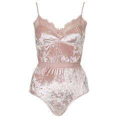 TOPSHOP Velvet Body (€28) ❤ liked on Polyvore featuring intimates, shapewear, bodysuits, lingerie, underwear, tops and pale pink