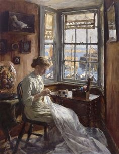 The Harbour Window, 1910 by Stanhope Forbes, R.A.