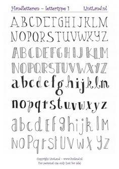 How To Hand Letter Free Bullet Journal Hand Lettering Alphabet within Handlettering Letters Bullet Journal Police, Bullet Journal Alphabet, Bullet Journal Printables, Bullet Journal Writing Styles, Bullet Journal Ideas Handwriting, Hand Lettering Alphabet, Doodle Lettering, Creative Lettering, Brush Lettering