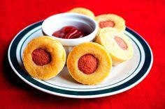 Muffins salados con salchichas