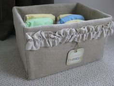 My *PINK* Life: Burlap-Covered Storage Box Tutorial