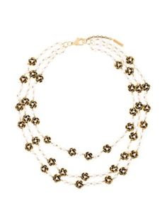 Marc Jacobs multi strand flower necklace