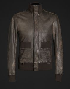 Leather outwear Men - Leather Men on Dolce