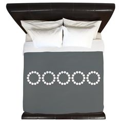 Classic Elegant Grey Diamond Loops King Duvet $187.99