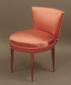 satin bedroom chairs | Art Deco Furniture, including an Art Deco bedroom set, Bridge chairs ...