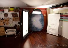 awesome in home basement studio set up by Jessica Gwozdz
