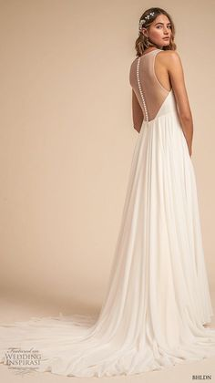bhldn 2018 away bridal sleeveless deep v neck ruched bodice simple classic a line weding dress sheer button back medium train bv -- Away We Go… BHLDN 2018 Bridal Collection Bhldn Wedding Dress, Sheer Wedding Dress, Backless Wedding, Bridal Gowns, Wedding Gowns, Weding Dresses, Dresses Dresses, Lovely Dresses, Lace Wedding