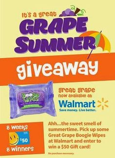 Great Grape Summer giveaway banner
