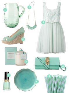 Mint green everything.