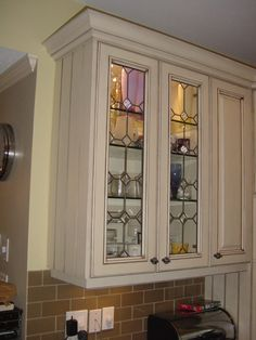 See how you can integrate a unique one-of-a-kind element into your kitchen and still produce an Eco-Friendly design. Leaded Glass, China Cabinet, Repurposed, Kitchen Design, Eco Friendly, Furniture, Home Decor, Decoration Home, Chinese Cabinet