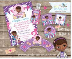 Invitation Doc Mcstuffins / Doctora Juguetes   Printable kit! at www.mimorusa.com. or at  my FB fan page https://www.facebook.com/Mi.Morusa