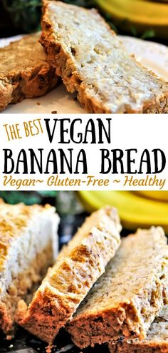 Gluten free vegan banana bread is a simple easy recipe that always comes out well it is gluten free vegan and can be made soy free too thehiddenveggies com veganbananabread glutenfreeveganbananabread easyveganbananbread coffee cream agar jelly Sans Gluten Vegan, Dessert Sans Gluten, Vegan Gluten Free Desserts, Bon Dessert, Dairy Free Recipes, Paleo, Dessert Recipes, Recipes Dinner, Easy Bread Recipes
