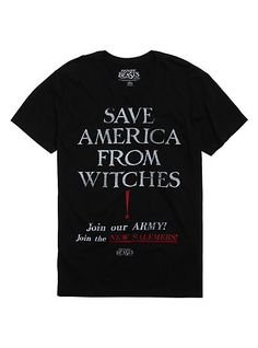 Fantastic Beasts And Where To Find Them Save America From Witches T-ShirtFantastic Beasts And Where To Find Them Save America From Witches T-Shirt, BLACK