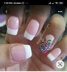 J Nails, Glow Nails, Manicure And Pedicure, Hair And Nails, Acrylic Nails, Great Nails, Cool Nail Art, French Nail Designs, Nail Stamping