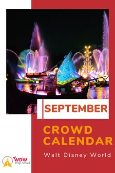 Planning to visit Disney World in September? Check out our FREE Septemberr Crowd Calendar for help finding the least crowded parks for each day of your trip. Disney World Crowd Calendar, Walt Disney World, Disney Planning, Fun Events, Disney Trips, Some Fun, Disneyland, Parks, September