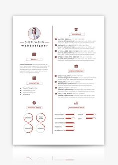 To get the job, you a need a great resume. The professionally-written, free resume examples below can help give you the inspiration you need to build an impressive resume of your own that impresses… Ppt Design, Graphic Design Resume, Food Design, Professional Resume Examples, Cv Examples, Resume Design Template, Resume Templates, Free Cv Template, Modern Cv Template