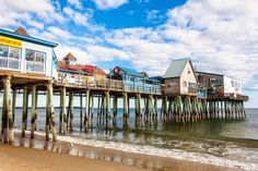 Old Orchard Beach Maine | The Pier of Old Orchard Beach, Maine.