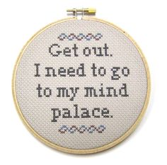 Mind Palace - Sherlock Cross Stitch Hoop. For the bathroom, obs. Because I'm freaking hilarious.