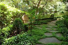 Rustic Stone Pathway by Dibble Landscaping