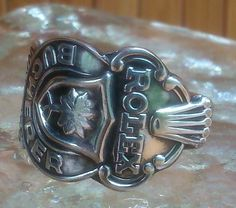 I made this silver Rolex man's ring from a vintage Rolex spoon, very comfortable