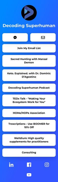 Elevating the human experience.  Decoding Superhuman Podcast. Short emails on health and performance. Join my list and see my other projects ⬇️⬇️ Decoding, Personal Branding, Work On Yourself, Insight, Join, Social Media, Content, Let It Be, Health