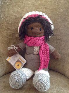 Bambola ad uncinetto Martina di Ideeinfilo su Etsy