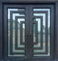 Steel Gate Design, Front Gate Design, Door Gate Design, House Gate Design, Main Door Design, Tiny House Design, Wood Entry Doors, Entry Hallway, Latest Door Designs