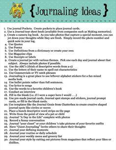 Scrapbook Journaling Ideas